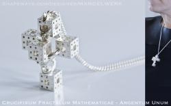 Crucifixum Fractalum Mathematicae - Sterling Silver 3D print