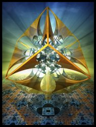 the Divine Sailor as a cubic circumscription of the complex minimalistic fractal structures of his o