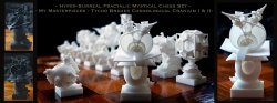Surreal Chess Set - My Masterpieces - The Bishops - Tycho Brahes Cosmological Cranium