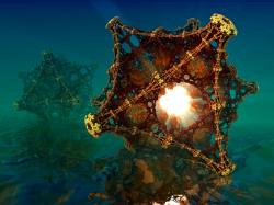 Kaleidoscopic Fractal Virus - The Image