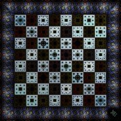 Fractal Chess Set Board