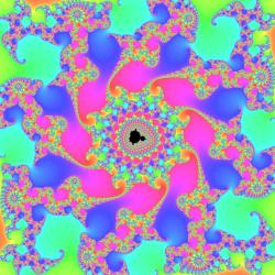 Mandelbrot set zoom with continous escape time