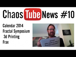 news #10 - Fractal Calendar - Fractal Symposium - 3d Printing - Frax