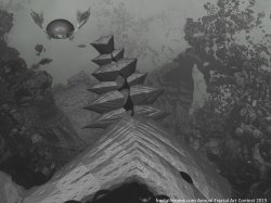 Fractal with Fat Bat and Fog