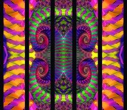 fractal on five cloth panels...