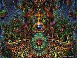 Deep Dream Fractal Dog