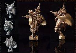 The Hyperbolic Manifold Mind of Nefertiti - Stage I & II - 3D printed Amulets