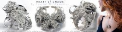 Heart of Chaos - Fractal Pendant - 3Dprinted in Silver
