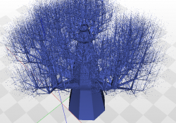 Tree in 3/4 perspective
