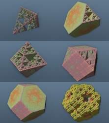 Tetrahedra-Sierpinski family