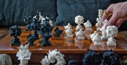 3D Printed Fractal Chess Set - The Surreal Game