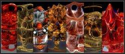 Mandelbulb Mutation Game Gallery