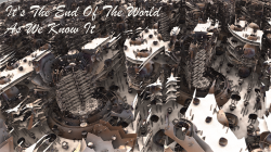 """Postcard """"It's The End Of The World As We Know It"""""""
