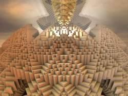 Q*bert's Temple #3 With Sky