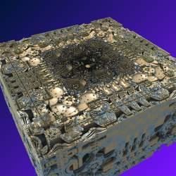 Interior of Mandelbox scale = 2
