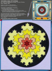 Koch Curve in Paul Laffoley Painting