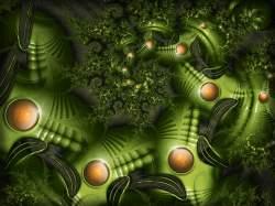 Swirling aliens